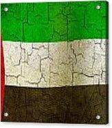 Grunge United Arab Emirates Flag Acrylic Print