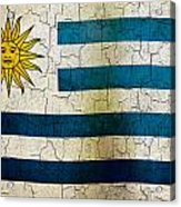 Grunge Uruguay Flag Acrylic Print