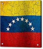 Grunge Venezuela Flag Acrylic Print