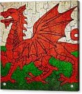 Grunge Wales Flag Acrylic Print