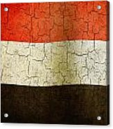 Grunge Yemen Flag Acrylic Print