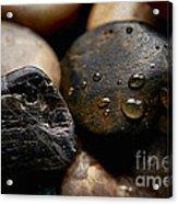 Rocks And Drops Acrylic Print
