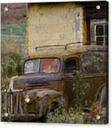 Grungy Vintage Ford Panel Truck Acrylic Print
