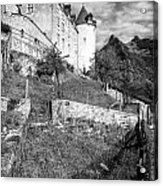 Gruyeres Castle Bw Acrylic Print
