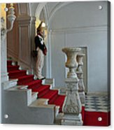 Guard At Catherine Palace In Russia Acrylic Print