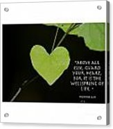 Guard Your Heart Acrylic Print