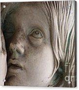 Guardian Angel With Praying Hands Acrylic Print