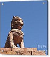 Guardian Chinese Lion Acrylic Print