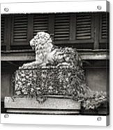 Guardian In Black And White Acrylic Print