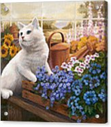 Guardian Of The Greenhouse Acrylic Print