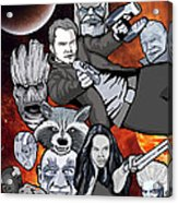 Guardians Of The Galaxy Collage Acrylic Print by Gary Niles