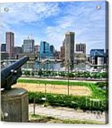 Guarding Baltimore Acrylic Print by Olivier Le Queinec
