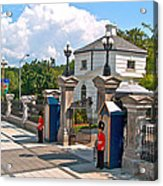Guards At Queen's Gate In Ottawa-on Acrylic Print