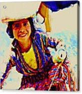 Guatemala Fisher Boy Smiling Acrylic Print
