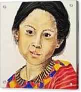Guatemala Girl  Acrylic Print