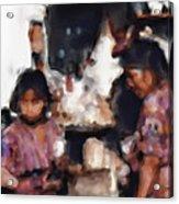 Guatemala Shopping Acrylic Print