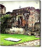 Guatemalan Church Courtyard Ruins Acrylic Print