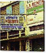 Guatemalan Street Billboard Acrylic Print