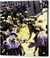 Guatemalan Girls Playing Acrylic Print