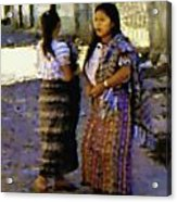 Guatemalan Girls Acrylic Print