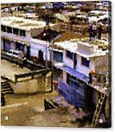 Guatemalan Roof Top Scene Acrylic Print