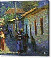 Guatemalan Scene Painter Acrylic Print
