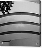 Guggenheim In The Round In Black And White Acrylic Print