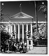 guided tour group outside the former national congress building Santiago Chile Acrylic Print