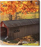 Guilford Vermont Covered Bridge Acrylic Print