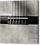 Guitar Abstract In Monochrome Acrylic Print