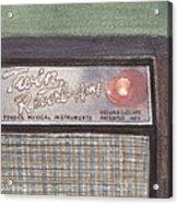 Guitar Amp Sketch Acrylic Print
