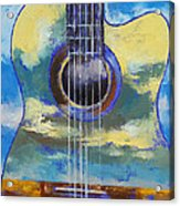 Guitar And Clouds Acrylic Print