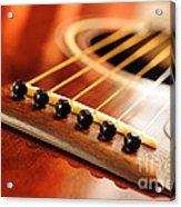 Guitar Bridge Acrylic Print