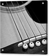 Guitar Bridge In Black And White Acrylic Print