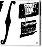 Guitar Graphic In Black And White  Acrylic Print
