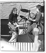 Guitar Jam At Day On The Green In Oakland 1976 Acrylic Print