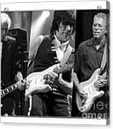 Guitar Legends Jimmy Page Jeff Beck And Eric Clapton Acrylic Print