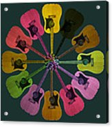 Guitar O Clock Acrylic Print