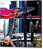 10261 Seasick Steve's Guitar On Drum Acrylic Print