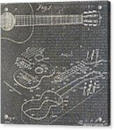 Guitar Patent Acrylic Print