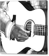 Guitar Player Acrylic Print by Aidan Moran