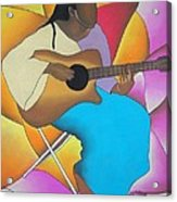 Guitar Player Acrylic Print by Sonya Walker