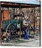 Guitar Playin Cowboy Acrylic Print
