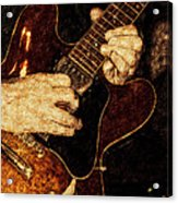 Guitar Tinted Copper Acrylic Print