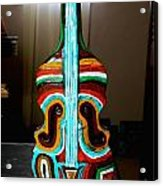 Guitar Vase Acrylic Print