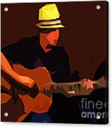 Guitarist Acrylic Print by Soumya Bouchachi