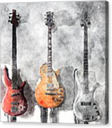 Guitars On The Wall Acrylic Print