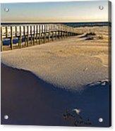 Boardwalk To The Gulf  Acrylic Print