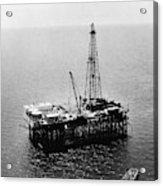 Gulf Of Mexico Oil Rig, 1950 Acrylic Print