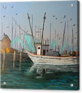Gulf Shrimpers Acrylic Print